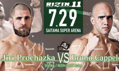 """Jiří """"Denisa"""" Procházka vs. Bruno Cappelozza - Rizin 11"""