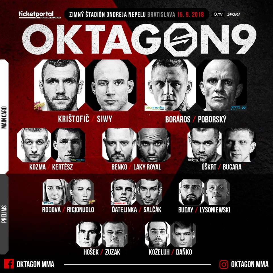 Oktagon 9 - fightcard