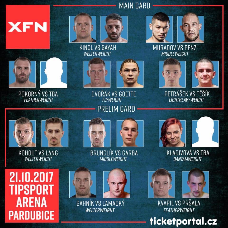 XFN 5 - fightcard