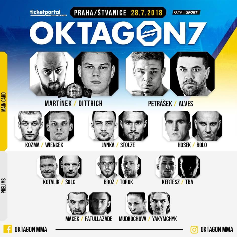 oktagon 7 - rozpis zápasů