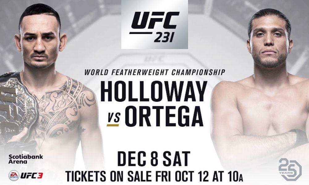UFC 231: Holloway vs. Ortega - videa zápasů