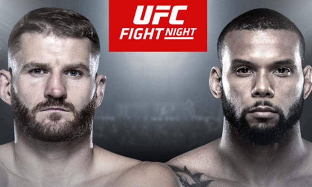 UFC Praha - Fightcard (program) - Blachowicz vs. Santos