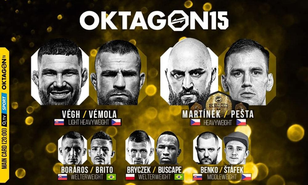 OKTAGON 15: Végh vs. Vémola - FIGHTCARD (KARTA)