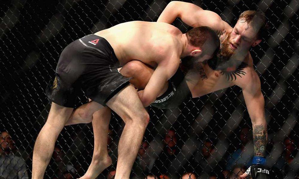 Khabib Nurmagomedov takedown